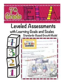 7th Grade ELA Assessment with Learning Goal 7.RL.1 and Scale - FREE