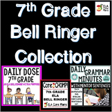 7th Grade ELA Bell Ringer Collection ~ Three Bell Ringer Products Included!