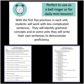 7th Grade Daily Grammar Minutes with Mentor Sentences