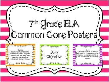 7th Grade ELA Common Core Posters
