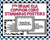 7th Grade ELA Common Core Posters- Black and White Print!