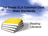 7th Grade ELA Common Core Posters Reading Literature