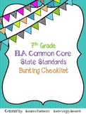7th Grade ELA Common Core State Standards Checklist