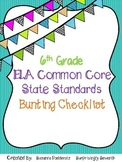 6th Grade ELA Common Core State Standards Checklist
