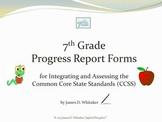Common Core 7th Grade English Standards Cumulative Progress Reports
