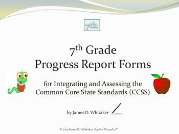 Common Core 7th Grade English Standards Cumulative Progres