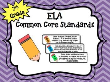 "7th Grade ELA ""I Can"" Common Core Standards"
