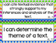 7th Grade ELA I Can Statements for CCSS Standards (Rainbow