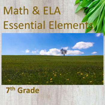 7th Grade ELA & Math Essential Elements for Cognitive Disabilities