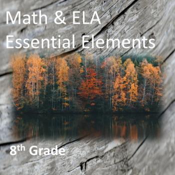 8th Grade ELA & Math Essential Elements for Cognitive Disa
