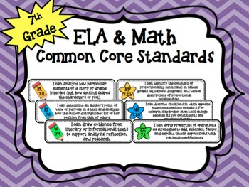 "7th Grade ELA & Math ""I Can"" Common Core Standards"
