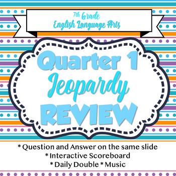 7th Grade ELA Quarter 1 Review - Ideal for Testing Review or Just a Fun Recap!