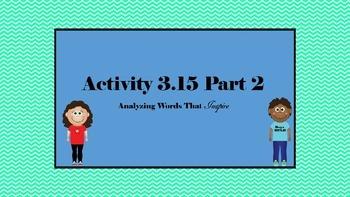 7th Grade ELA SpringBoard Activity 3.15 Part 2