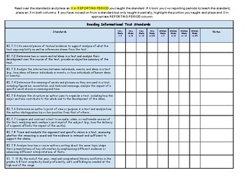 7th Grade ELA Standard Tracker