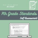 7th Grade ELA Standards Based Student Self-Assessment (Editable!)