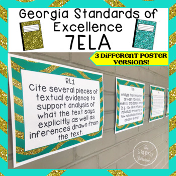 7th Grade ELA Standards Posters