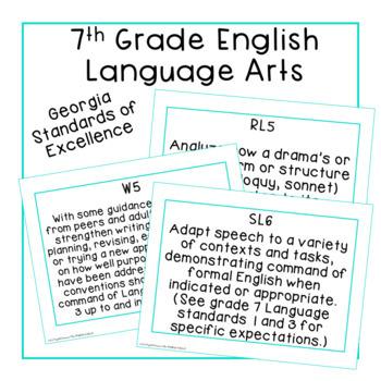 7th Grade ELA Standards Posters