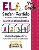 7th Grade ELA Student Portfolio Pages with Marzano Scales - FREE!
