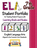 7th Grade ELA Student Portfolio Pages with Marzano Scales - FREE!