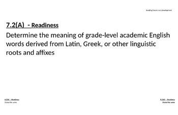 7th Grade ELAR (inc. Fig 19) TEKs
