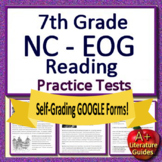 7th Grade EOG Test Prep NC READY ELA Reading Practice Tests Bundle