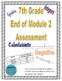 7th Grade End of Module 2 Assessment - Editable
