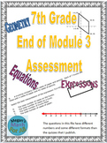7th Grade End of Module 3 Assessment - Editable