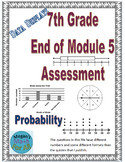 7th Grade End of Module 5 Assessment - SBAC - Editable