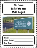 7th Grade MATH End of Year Summative Project + Distance learning