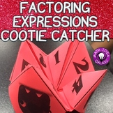 7th Grade End of the Year Review-Factoring Expression Cootie Catcher