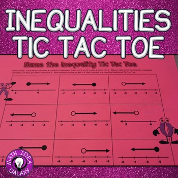 7th Grade End of the Year Review-Graphing Inequalities Tic Tac Toe