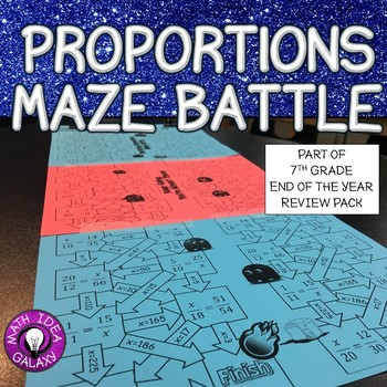 7th Grade End of the Year Review-Proportions Maze Battle