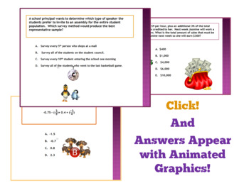 7th Grade End-of-the-Year Review Questions:  Power point + FREEBIE