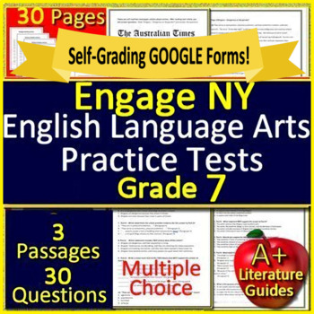 7th Grade Engage NY ELA Test Prep Practice for New York State