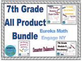7th Grade Engage NY/Eureka Math all product Bundle - Editable and PDF - SBAC