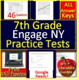 7th Grade Engage NY Math Test Prep Practice - Printable AND Paperless!