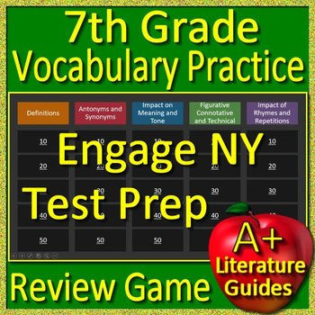 7th Grade Engage NY Test Prep Vocabulary Practice Review Game