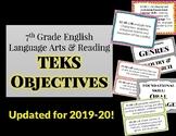 (Updated!!) 7th Grade English Language Arts and Reading TEKS Objectives