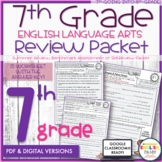 7th Grade English Review Packet, Summer Packet, End of the Year, Back to School