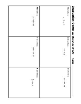7th Grade Equation Practice