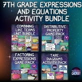 7th Grade Expressions and Equations Activity Bundle
