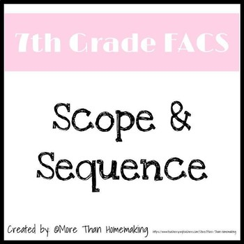 7th Grade FACS Scope & Sequence