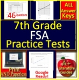7th Grade FSA Math Test Prep Practice - Print or Paperless using Google