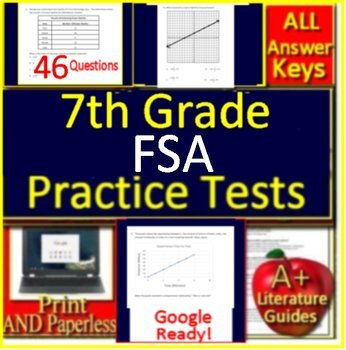 7th Grade FSA Math Test Prep Practice - Print or Paperless ...
