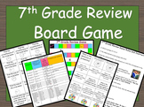 FSA, Regents, End of Year Assessment, 7th Grade Math Review Game Printable