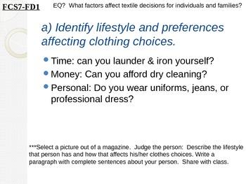 7th Grade Fashion Design Unit PowerPoint Lessons
