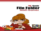 7th Grade File Folder Math Games