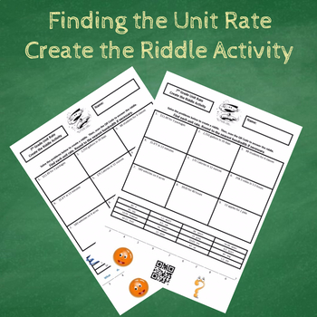 7th Grade Finding the Unit Rate Create the Riddle Activity