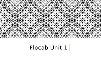 7th Grade FloCabulary Unit 1 PowerPoint