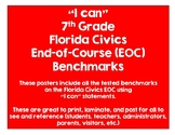 "7th Grade Florida Civics Benchmarks - ""I Can"" Statements"
